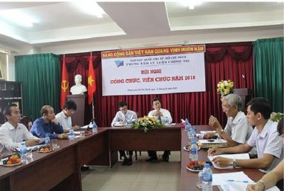 Trung tâm Lý luận Chính trị tổ chức Hội nghị cán bộ viên chức năm 2018