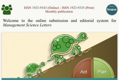 Bài viết của Ths. Nguyễn Hữu Trinh, Ths Lê Văn Đại trên Tạp chí Management Science Letters (Scopus)